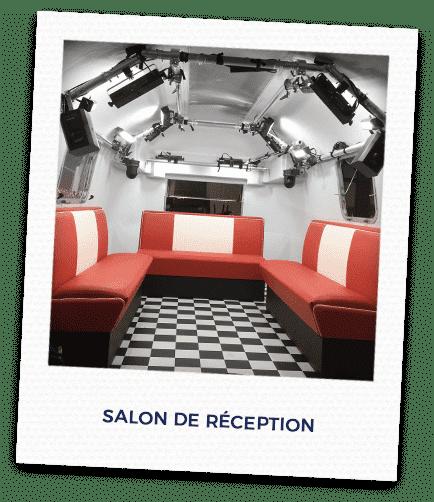 Studio mobile salon de réception