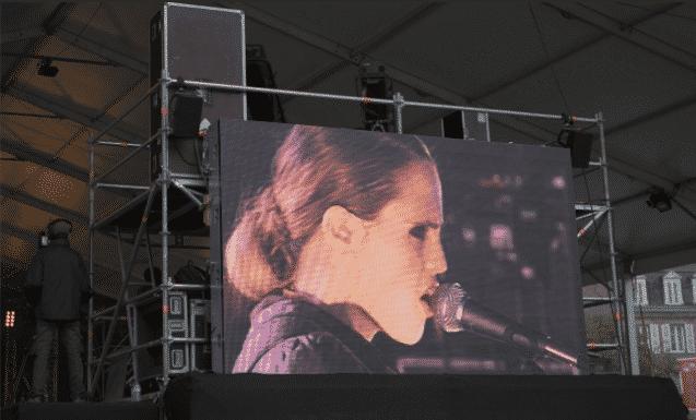Diffusion sur écran extérieur - concert