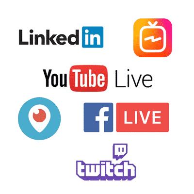 Diffusion d'événements en streaming sur les réseaux sociaux